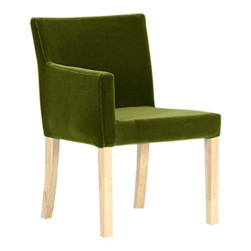 arne ダイニングチェア 北欧 木製 椅子 チェアー 背もたれ 日本製 JOY 【Sサイズ】【右肘タイプ】【ナチュラル脚】 モケット グリーン B074346D4J Sサイズ/右肘タイプ|グリーン グリーン Sサイズ/右肘タイプ