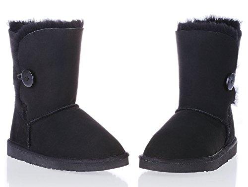 Augroo - botas sin cordones mujer negro