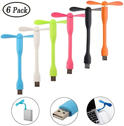 Swallowzy Mini Ventilador USB 6 Pack portátil Flexible ...