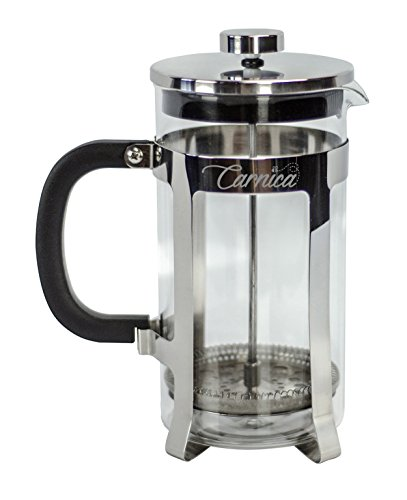 Carnica French Press Coffee Maker 8-Cup, 34-Ounce Capacity Clear Glass Carafe w/ Stainless ...