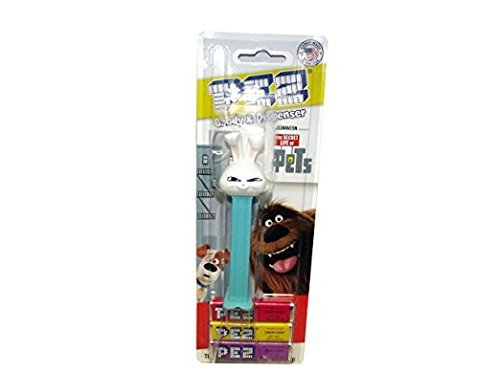 White Rabbit Homemade Costume (Pez Dispenser The Secret Life of Pets Snowball Rabbit Kids Toddlers Teens Candy)