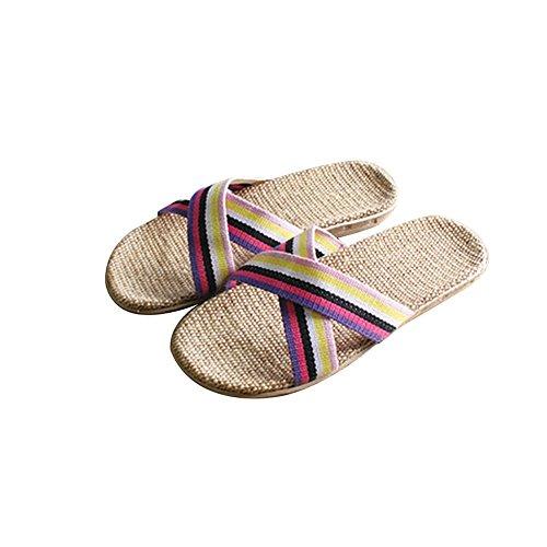 TELLW Hausschuhe Non Schuhe Paare Männer Home Points Sommer für Frauen Kühlen Hausschuhe Badezimmer Purple und Indoor Slip Badezimmer Pediküre xvwpx