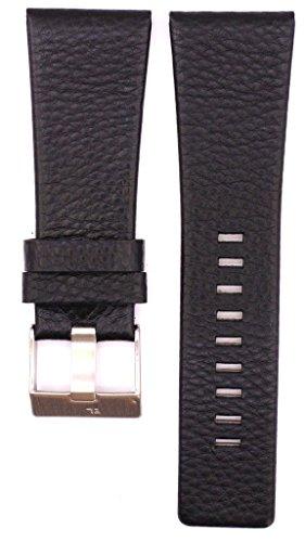 30mm Leather Suitable For DZ1308 DZ1289 DZ1286 DZ1287 DZ1435 DZ4178 DZ4197 DZ4218 DZ7203 DZ7173 DZ7152 DZ1288 DZ1283 DZ1285 DZ1309 DZ4089 DZ1228 DZ1434 DZ4191 DZ7174 DZ7154 Watches Band Strap (black) (Diesel Leather Strap Watch)