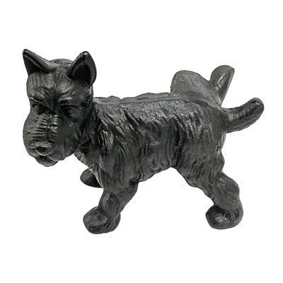 (Naughty Peeing Scotty Dog Die-Cast Iron Bookend and Doorstop)