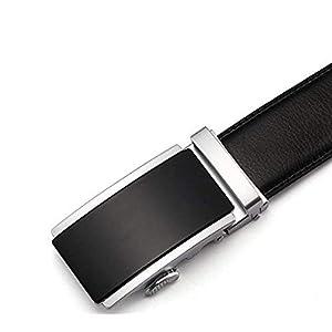 Satyam Kraft Men's Leather Reversible Belt (Black, Standard Size)