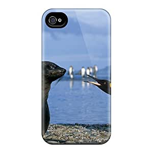 ZnO10868UoKH Anti-scratch Cases Covers CaroleSignorile Protective Penguins Vs Seal Cases For Iphone 6