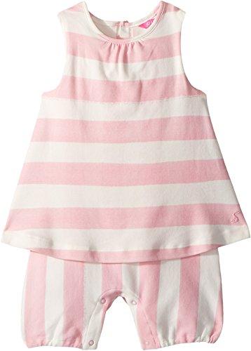 Joules Kids Baby Girl's Jersey Romper (Infant) Pink Stripe 18-24 - Jersey Romper Infant