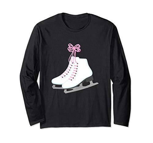 Ice Skating Skaters Long Sleeve Tee for Women Mom Skate Love