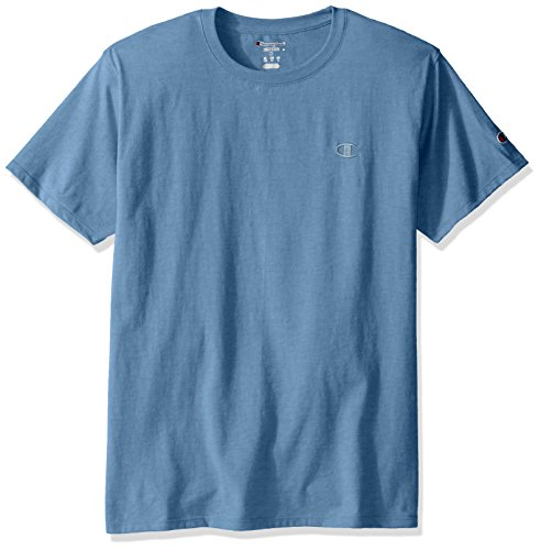 (Champion Men's Classic Jersey T-Shirt, Swiss Blue, M)