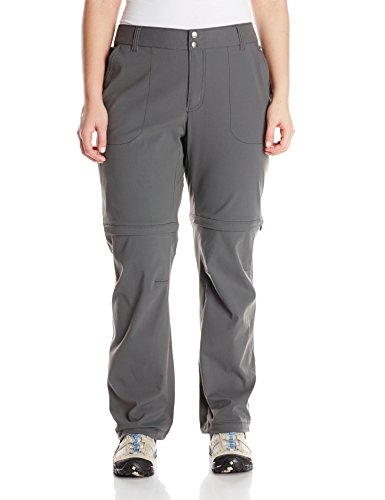 Columbia Women's Saturday Trail II Convertible Pant, Grill, 12/Long