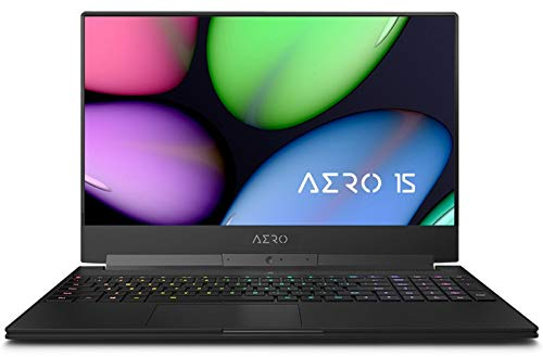 "GIGABYTE AERO 15 XA-7US2130SH Enthusiast (i7-9750H, 64GB RAM, 1TB NVMe SSD, NVIDIA RTX 2070 8GB, 15.6"" Full HD 240Hz, Windows 10) Gaming Notebook"