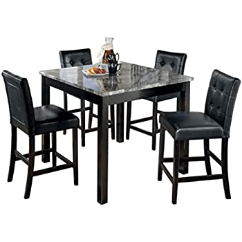 8a82f3807e2d Ashley Furniture Signature Design - Maysville Counter Height Dining Room Set  - 1 Table and 4