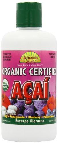 Dynamic Health Organic Certified Acai Juice Blend, 33.8-Ounce - Acai Natural Blend Juice