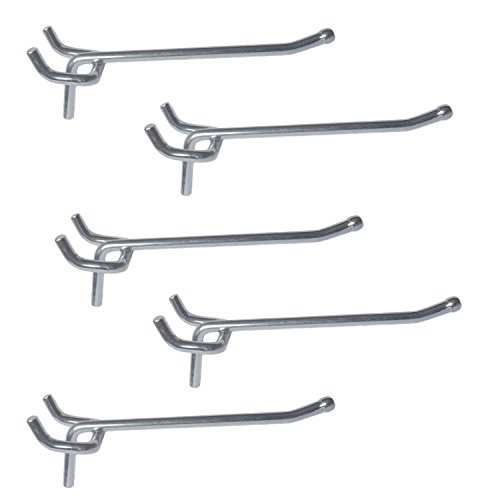 Pack of 20 Metal Pegboard Hooks (6 Inch)