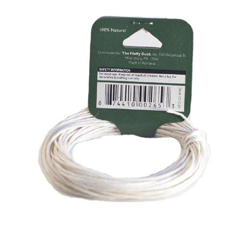 Hemp Sisters HTD-20-WHC 20 lbs Hemp Twine Coil with Label, 8 yds Length, White