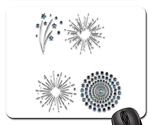 - Mouse Pads - Decor Ornament Jewelry Salute Flash Spray Star 8