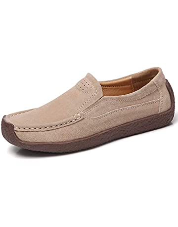 418fe1cc5b0ba ALLY UNION MAKE FORCE Women's Casual Slip-on Loafers Comfortable Suede Flat  Shoes. Upcoming Deal