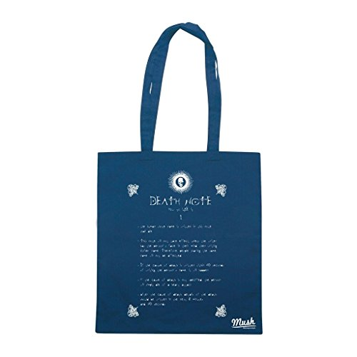 Borsa DEATH NOTE RULES - Blu navy - CARTOON by Mush Dress Your Style
