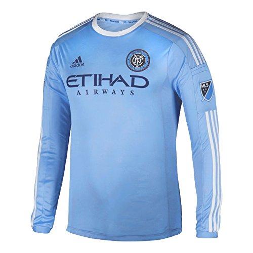 Adidas New York City FC 2016 Authentic Long Sleeve Home Jersey [Light Blue] – DiZiSports Store