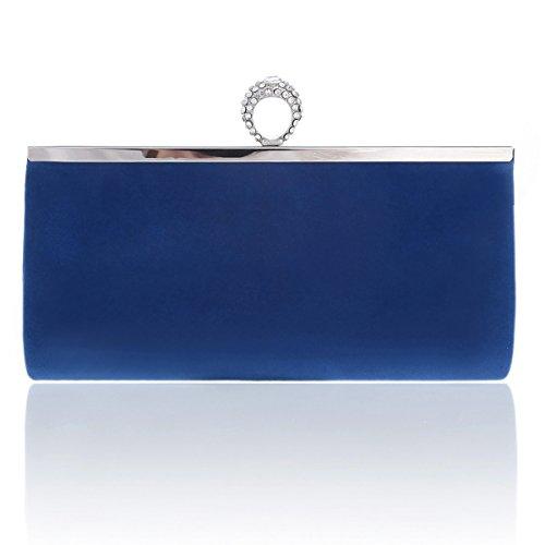 Womens Cocktail Blue Damara Clutch Ring Soft O Womens Damara Bag nxYBxz