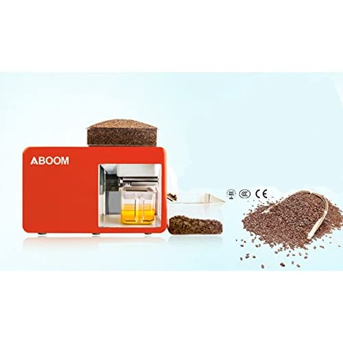 Aboom Santé Huile de froid Machine de presse pour les graines de lin, de ricin, de colza, graines de thé, de graines de tournesol pour faire de l'huile fraîche pour la cuisson