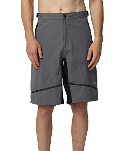 EZRUN Mens Mountain Bike Shorts Quick Dry Lightweight Water-Resistant Cycling MTB Shorts UPF 50+