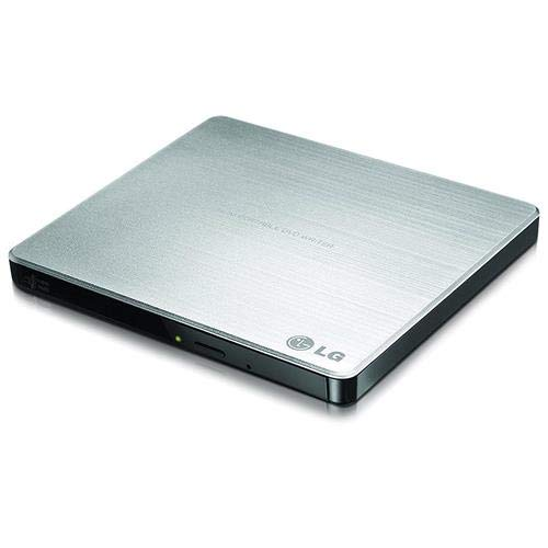 B 2.0 Super Multi Ultra Slim Portable DVD Rewriter External Drive with M-DISC Support for PC and Mac, Silver (GP60NS50) ()