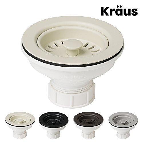 Kraus Kitchen Sink Strainer for 3.5-Inch Drain Openings in Beige ()