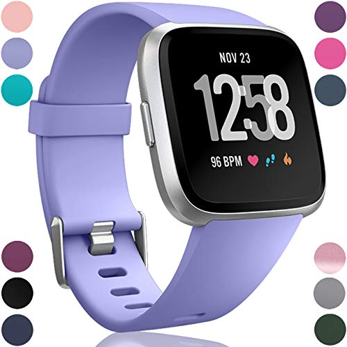 Wepro Replacement Bands Compatible with Fitbit Versa SmartWatch, Sports Watch Band for Women Men, Small, Periwinkle