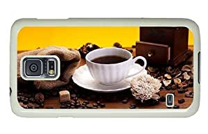 Hipster Samsung Galaxy S5 Case case mate cover Cup Coffee Beans PC White for Samsung S5