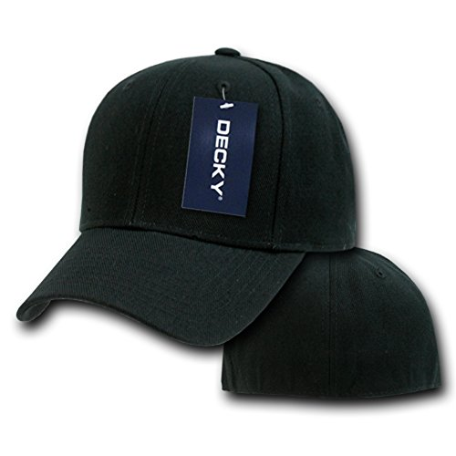 Hombre negro Decky para Gorra Fitted w77xYIt