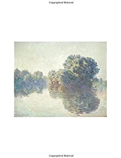 claude monet the seine at giverny notebook decorative notebook 70 sheet ruled 85 x 11