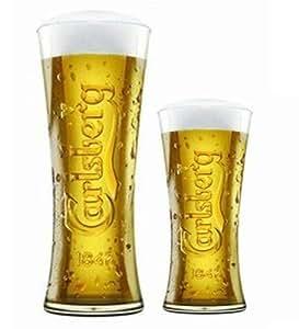 Relieve Carlsberg cerveza + vaso de media pinta Set