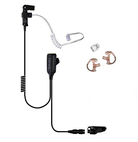 Lapel Headset Mic Kenwood TK280 TK380 TK480 TK481 TK2180 TK3180 TK2140 TK3140 TK5210 TK5310 TK5220 TK5320 NX200 NX300 NX410 NX411 NX210 ()
