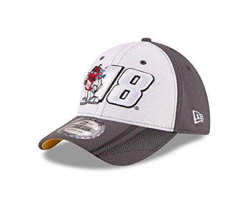 Kyle Busch Driver (NASCAR Kyle Busch 2016 39THIRTY Stretch Fit Alt Driver's Cap, White/Graphite, Medium/Large)