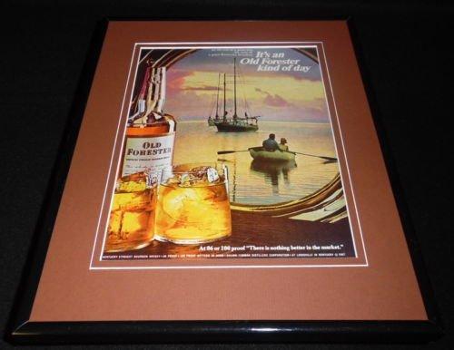 1968 Old Forester Bourbon Framed 11x14 ORIGINAL Vintage Advertisement