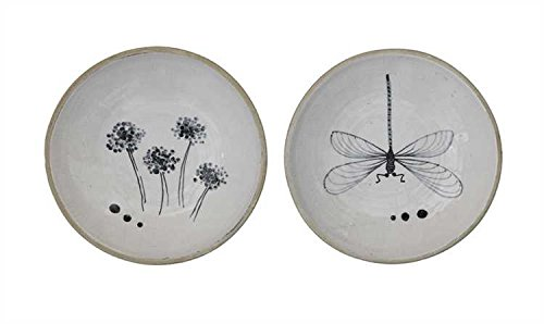Garden Hand-Painted Decorative Terra Cotta Dishes - Set of 2 by Heart of America