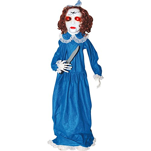 Animated Porch Squatter Zombie Girl Halloween