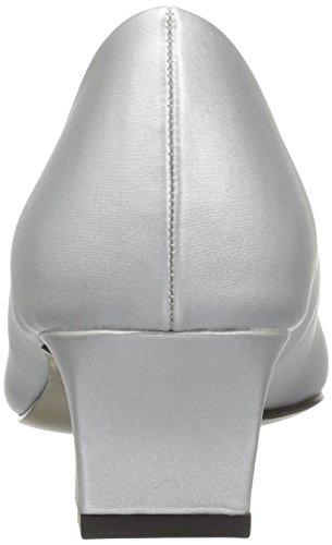 Easy Street Womens Venture Dress Pump Silver Satin w53tf4oQaq