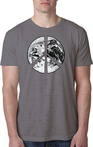 Peace Earth Burnout Shirt, Dark Grey Large