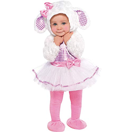 AMSCAN Baby Little Lamb Halloween Costume for Infants, 6-12 Months, with Included Accessories -