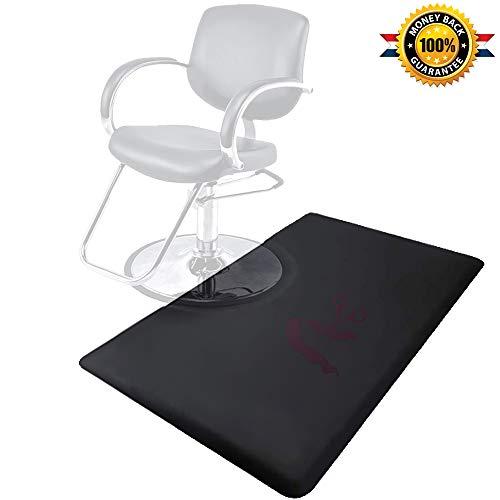 3 x 5 ft. Salon Floor Mat Barber Shop Chair Floor Anti Fatigue Mat for Hair Styling-Black Rectangle Comfort Beauty Salon Chair Floor Mat 1/2 in. Thick (Rectangle)