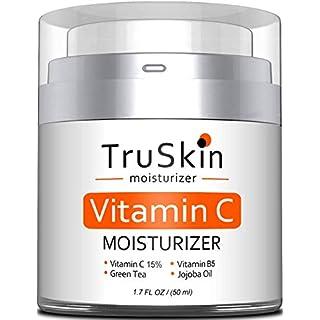 TruSkin Vitamin C Moisturizer Face, Neck & Décolleté Cream for All Skin Types with Vitamin B5 and Green Tea, 1.7 fl oz
