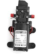 JOYKK 12V 72W Interruptor automático de Bomba de Agua con Micro diafragma de Alta presión Tipo Inteligente - Negro