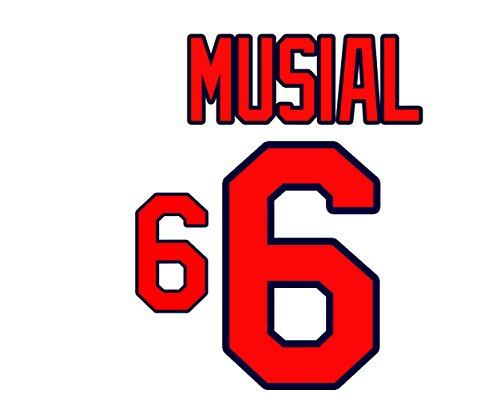 (Stan Musial St. Louis Cardinals Jersey Number Kit, Authentic Home Jersey Any Name or Number Available)
