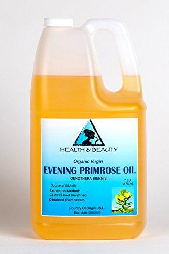 (Evening Primrose Oil Organic Carrier Virgin Cold Pressed Pure 128 oz, 7 LB, 1 gal )