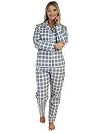 PajamaMania Women's Sleepwear Flannel Long Sleeve Pajamas PJ Set