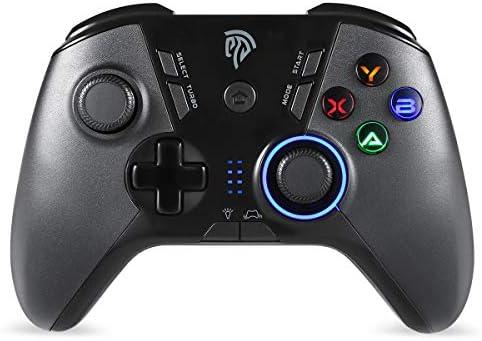 Mandos Inalámbricos, BZ 2.4G Mandos PS3 Batería, Gamepad con 5 Velocidades para Adjustar LED, Vibración Dual, TURBO y 4 Botones Programables para PS3/ Andriod Móvil/PC/Tablet/TV/TV BOX: Amazon.es: Electrónica