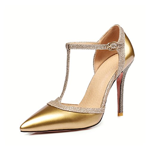 cheap Asumer Sequins Splicing Style Dress Shoes Pointed-Toe High Heels Pumps free shipping