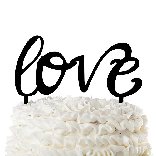 Love-Wedding-Cake-Topper-Cursive-Letters-Black-Acrylic-Toppers-Love
